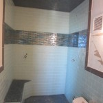 Before Steam Room Glass Install