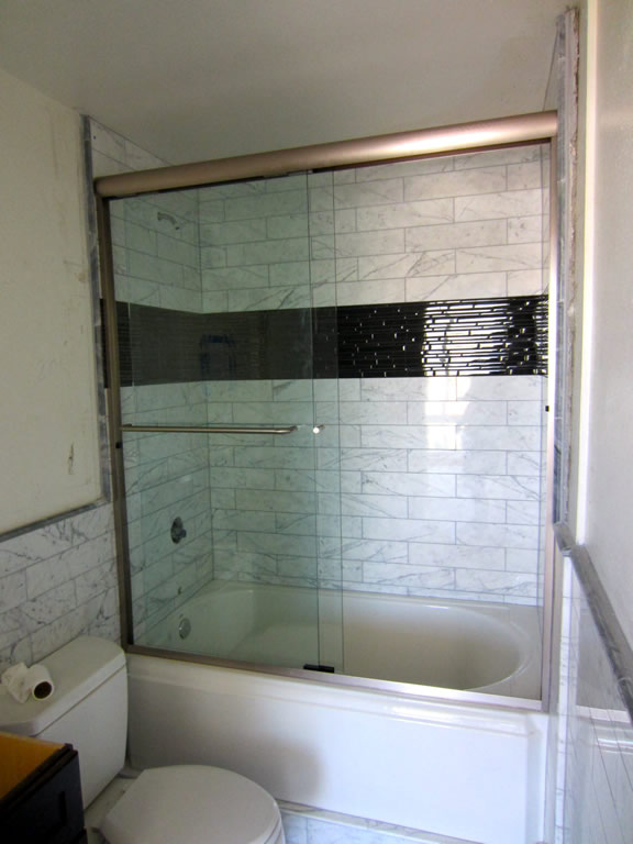 Bypass Shower Door Installation