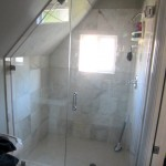 Custom Angled Glass Frameless Shower