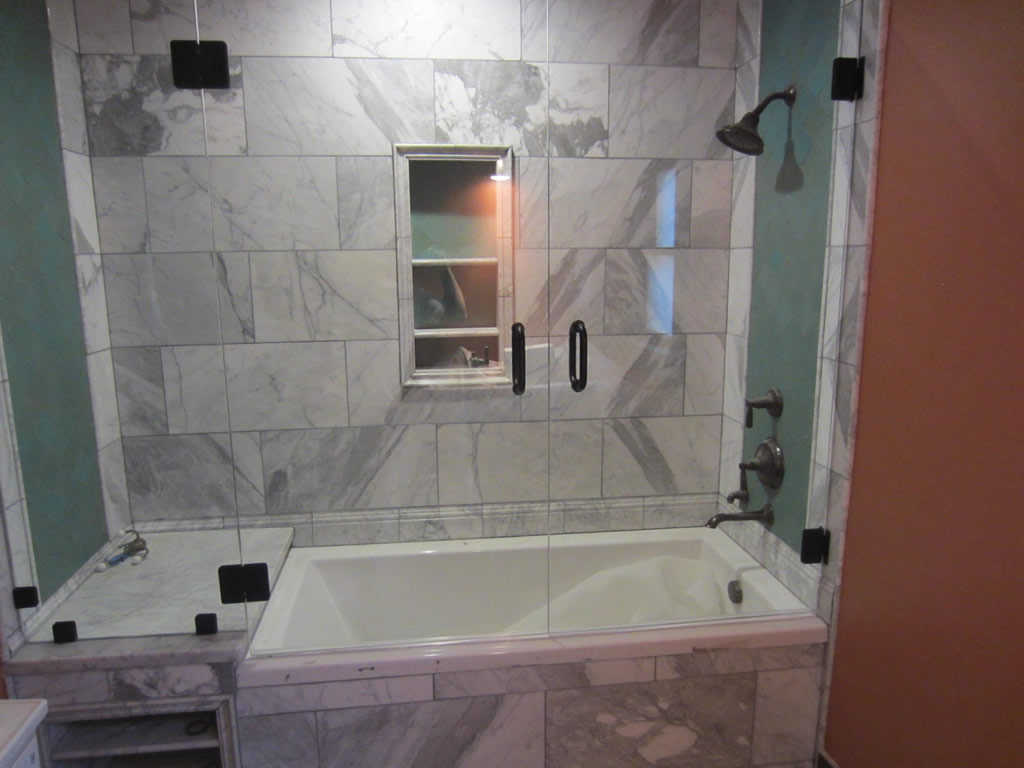 Tub And Shower Frameless Enclosure Patriot Glass And Mirror San