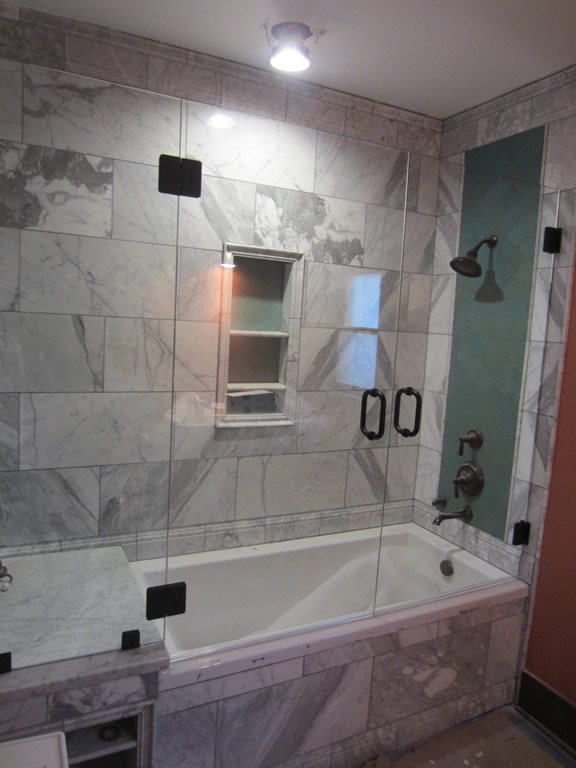 Tub And Shower Frameless Enclosure - Patriot Glass and Mirror | San ...