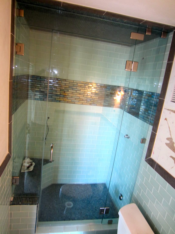 Steam Shower Glass Enclosure Installation Pacific Beach