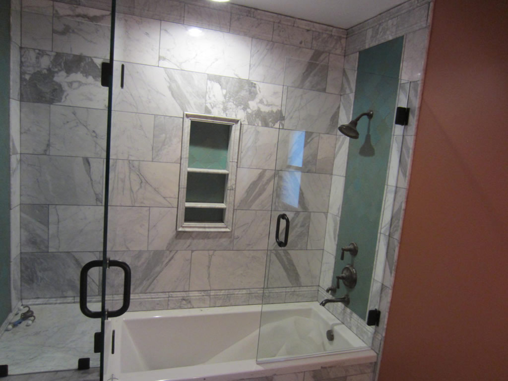 Tub and shower frameless enclosure patriot glass and mirror san diego ca - Bathtub shower doors ...