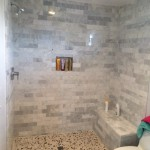 San Diego Shower Before Glass Installation