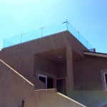 Point Loma Rooftop Deck Railing Installation