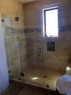 Centered Door Glass Shower Enclosure