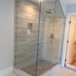 Custom Angled Shower Glass Installation