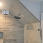 Custom Angled Wall Shower Enclosure