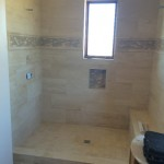 Shower Before Glass Installation