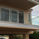 Glass Railing Aluminum Base With Stainless Steel Top Rail