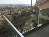 Glass Railing With Stainless Steel Top Rail