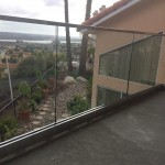 Spring Valley Glass Railing With Stainless Steel Top Rail