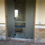 Half Inch Glass Steam Shower With Frosted Side Panels