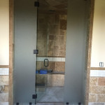 Half Inch Glass Steam Shower With Frosted Side Panels Install