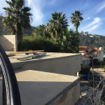 La Jolla Start Of Glass Balcony Railing Installation