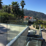 White Powder Coated Base Half Inch Glass Railing