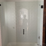 3/8 Frameless Glass Shower Enclosure Over A Tub