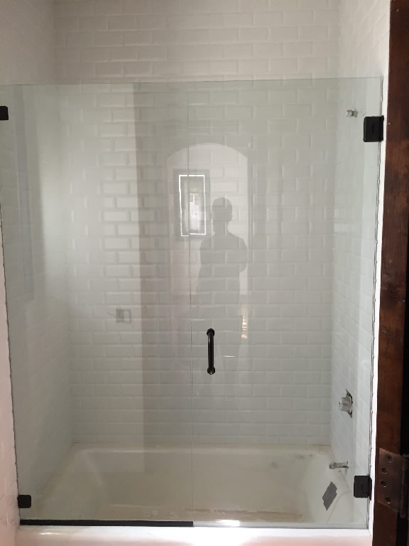 Tub Enclosure With Door Patriot Glass and Mirror San Diego CA