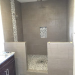 Before Frameless Glass Shower Enclosure Install