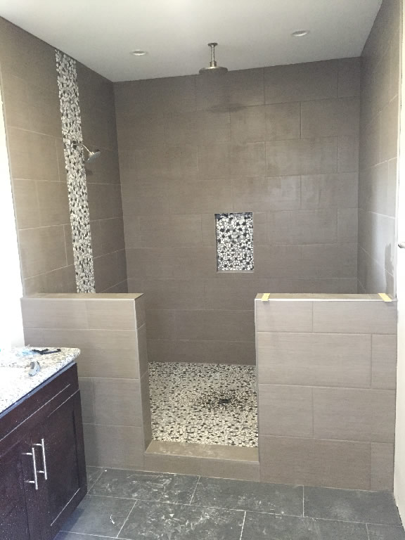 Before Frameless Glass Shower Enclosure Install - Patriot Glass and ...