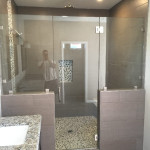 Frameless Glass Shower Enclosure With Chrome Hardware Encinitas