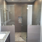 Half Inch Frameless Glass Showe Enclosure With Chrome Hardware