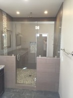 Half Inch Frameless Glass Shower Enclosure Encinitas