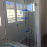 Half Inch Frameless Shower Enclosure With 90 Return