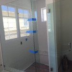 Shower Enclosure 90 Return Panel On Top Of Bench Solana Beach