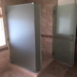 1/2 Inch Frosted Glass Shower Enclosure San Diego