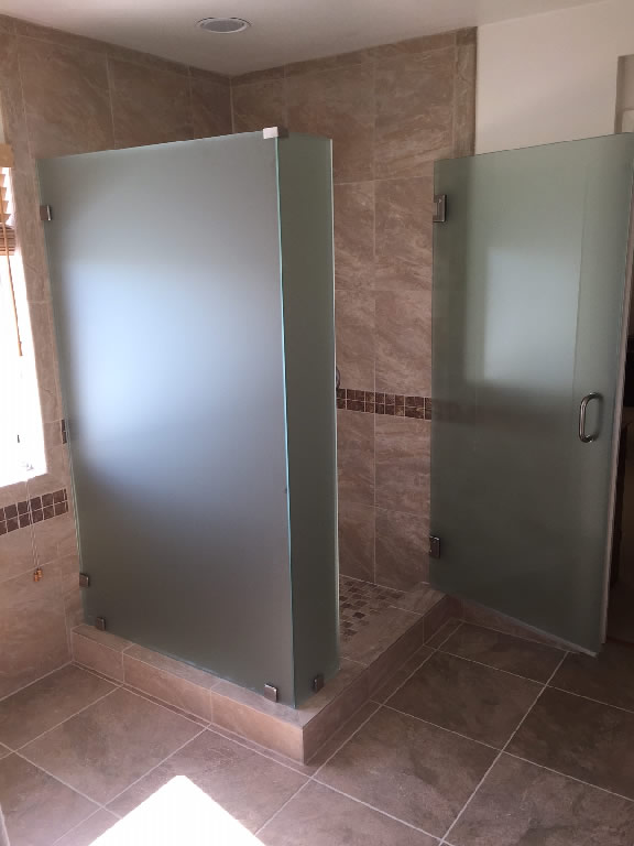 Good 1/2 Inch Frosted Glass Shower Enclosure San Diego