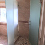 Custom Shower Enclosure 1/2 Inch Frosted Glass