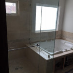 3/8 Inch Frameless Glass Shower Enclosure Installation