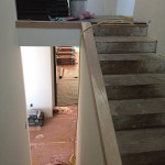 Before Glass Stairway Railing Installation