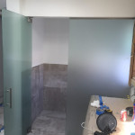Frosted Glass Bathroom Divider Install