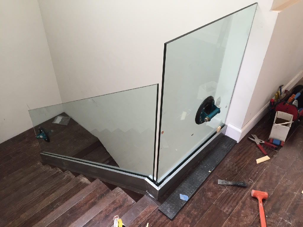 Glass Stairway Railing - Patriot Glass and Mirror | San ...