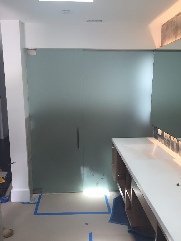 Half Inch Frosted Glass Divider Del Mar