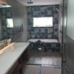 Shower Enclosure With Ladder Pull Handle