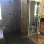 Angled Shower Glass Enclosure
