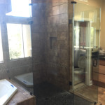 Custom Angled Shower Enclosure San Diego