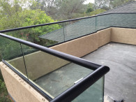 Glass Railing With Rounded Top Rail
