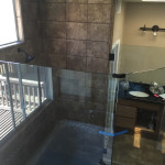Open Shower Design Glass Enclosure