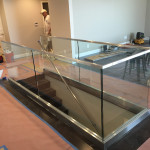 Glass Stairway Railing Installation Point Loma