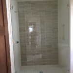 Large Frameless Glass Shower Enclosure