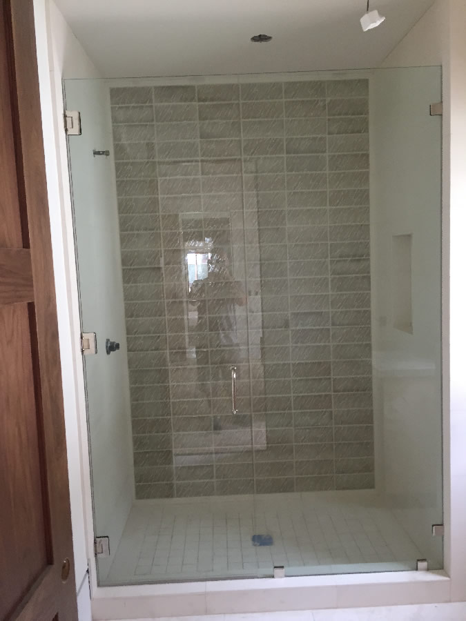 Large Frameless Glass Enclosure - Patriot Glass and Mirror | San ...