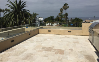 Rooftop Patio Railing Installation La Jolla