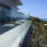 Facia Mounted Glass Railing With Aluminum Base Shoe