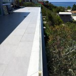 Half Inch Glass Railing Installation Point Loma