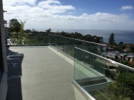Glass Railing Stainless Steel Top Rail La Jolla