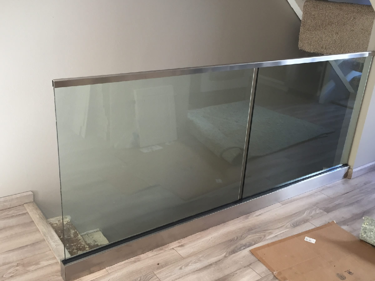 Custom Glass Railing Aluminum Base